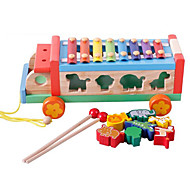 Building Blocks Educational Toy For Gift  Building Blocks Bus Wood 2 to 4 Years 5 to 7 Years Toys