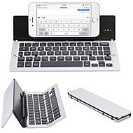 F18 bärbar ultra tunn vikbar aluminiumlegering bluetooth 3.0 trådlöst tangentbord för mobiltelefon tablett pc