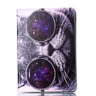 Per la mela ipad 4 3 2 custodia copertura caso gatto modello stent pu materiale guscio di protezione piatto