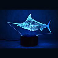 Weihnachten Marlin Schildkröten berühren Dimmen 3d geführt Nachtlicht 7colorful Dekoration Atmosphäre Lampe Neuheit Beleuchtung