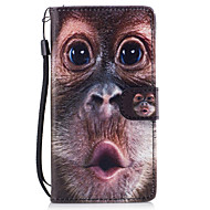 Mert tokok Pénztárca Kártyatartó Állvánnyal Flip Minta Mágneses Teljes védelem Case Állat Kemény Műbőr mert HuaweiHuawei P9 Lite Huawei