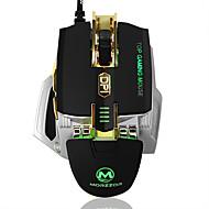 High-end 4000dpi bedraad gaming muis macro definitie geleid usb muis met geheugen functie gewicht toenemende mechanische metalen muis
