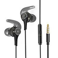 byz q8携帯イヤホンマイクノイズキャンセリング付きコンピュータの耳の有線金属3.5mm用
