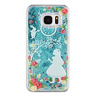 Samsung Galaxy S8 ja s8 puhelimen tapauksessa prinsessa kuvio virtaava juoksuhiekkaa neste kimallus muovi pc materia s7 reuna s7