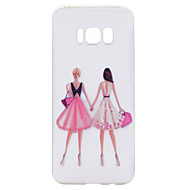 For Samsung Galaxy S8 Plus S8 Phone Case Girlfriends Girl Pattern Soft TPU Material Phone Case