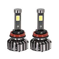 klmoon 쌍의 h11 dc 12v 40w 4000lm 6000k led 헤드 라이트 램프 키트 전구