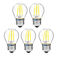 4W LED필라멘트 전구 G45 4 COB 300 lm 따뜻한 화이트 화이트 밝기조절가능 V 5개