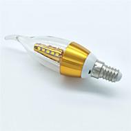 5W E14 Luces LED en Vela CA35 25 SMD 2835 350 lm Blanco Cálido Decorativa AC 100-240 V 1 pieza
