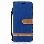 Til samsung galaxy s8 plus s8 kuffert kortholder lommebog med stativ flipcase farveblokke hårdt tekstil til Samsung Galaxy S7 edge s7