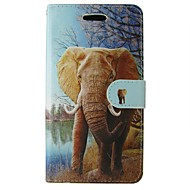 Samsung Galaxy a5 2017 a3 2017 burkolata állat elefánt testet fedő kártyával és stand a3 2016 a5 2016 a3 a5