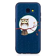 Samsung Galaxy a3 (2017) a5 (2017) suojus pöllö kuvio maalattu kohokuvioitu tuntuu TPU pehmeä tapaus puhelinkotelo a3 (2016) a5 (2016)