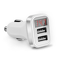Hurtig opladning QC2.0 LED display Multiporte Andre 2 USB-porte Kun oplader DC 5V/2.1A