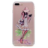 Para el iphone 7 más la cubierta ultrafina del caso de la cubierta del caso 7 de la contraportada del caso de la tapa de la caja del