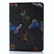 Til iPad 2017 9,7inch luksus ægte læder tasker dækker præget mønster 3d tegneserie sommerfugl taske til ipad air2 / air1 / ipad pro 9.7
