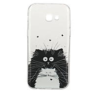 Käyttötarkoitus kotelot kuoret Kuvio Takakuori Etui Kissa Eläin Pehmeä TPU varten Samsung A3 (2017) A5 (2017) A5(2016) A3(2016)