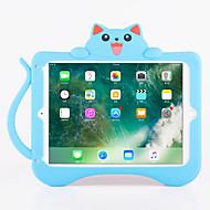 アップルipadプロ9.7 '' ipad空気2スタンドパターンの裏蓋ケースとショックプルーフ猫の3D漫画ソフトシリコーン