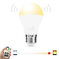 6W LED Έξυπνες Λάμπες A60(A19) 20 SMD 5730 600 lm Θερμό Λευκό Άσπρο Διπλό χρώμα πηγής φωτόςΥπέρυθρος Αισθητήρας Με ροοστάτη