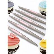 6 darab süteményformákba Virág Torta Keksz Cupcake Csokoládé Kenyér Cake Cookie Candy Műanyagok Puha műanyag Sütés eszköz DIY