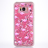 Kotelo samsung-galaksille s8 s8 plus kotelointi vaaleanpunainen flamingo kuvio tpu materiaali täynnä pehmeää rakkautta flash jauhe