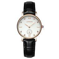 SANDA Dames Dress horloge Modieus horloge Polshorloge Japans Kwarts Waterbestendig Leer Band Glitter Bedeltjes Elegante horlogesZwart Wit