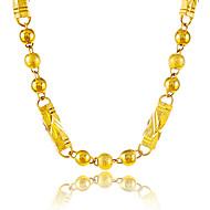 Férfi Női Nyakláncok Round Shape Geometric Shape Golyó Arannyal bevont Karika Egyedi Régies (Vintage) jelmez ékszerek Ékszerek