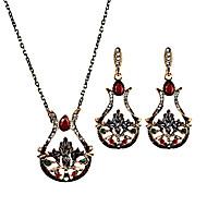 Damskie Kolczyki wiszące NaszyjnikUnikalny Płatki Kwiaty Modny Postarzane Osobiste euroamerykańskiej luksusowa biżuteria Wyrazista