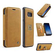 Θήκη για Samsung S8 s8 και το 2 σε 1 μαγνητικό γνήσιο δέρμα τηλέφωνο τσαντών πορτοφολιών κάλυμμα τηλέφωνο s7 άκρη s7