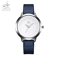 SK Damen Sportuhr Armbanduhr Chinesisch Quartz Schockresistent PU Band Cool Bequem Elegante Marinenblau