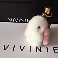 Bolsa / teléfono / llavero encantos de dibujos animados juguete conejo piel de visón