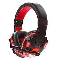 soyto SY830MV-R Stirnband Mit Kabel Kopfhörer Dynamisch Spielen Kopfhörer Mit Lautstärkeregelung Lärmisolierend Stereo Mit Mikrofon