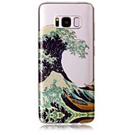 Kotelo samsung galaxy s8: lle ja s8: lle puhelimen kotelo tpu materiaali imd prosessin aallot kuvio hd flash jauhe puhelimen kotelo s7