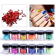 12PCS Crystal Grooming Nail Salon Tool Nail Art Jewelry Diamond Sequin 10G Bottle DIY Art Nail Stickers