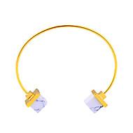 Women's Cuff Bracelet Turquoise Friendship Fashion Movie Jewelry Hypoallergenic Stainless steel Square Jewelry ForAnniversary