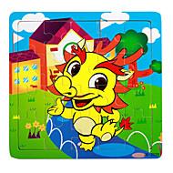 Legpuzzels Legpuzzel Bouw blokken DHZ-speelgoed Draak Huis cartoon Shaped