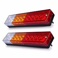 Ziqiao 2adet 12v su geçirmez 20leds atv römork kamyon led tail light lamba lamba yelkenli yat araba-römork arka stop fren dönüş ışıkları