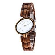 女性用 腕時計 ウッド 日本産 クォーツ 木製 ウッド バンド チャーム ラグジュアリー エレガント腕時計 ブラウン