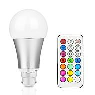 12W LED Έξυπνες Λάμπες A60(A19) 15 Ενσωματωμένο LED 700-800 lm RGB + θερμό RGB + λευκό Με ροοστάτη Τηλεχειριζόμενο Διακοσμητικό V 1 τμχ