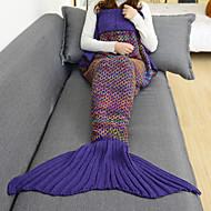 1 개 Emergency Blanket 담요 캐쥬얼/데일리 용 캐쥬얼/데일리 친론-화이트 퍼플 그린 블루