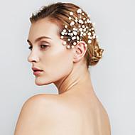 φουρκέτες μαργαριτάρι κοσμήματα λουλούδι μαλλιά των γυναικών για το γαμήλιο γλέντι (σύνολο 6)