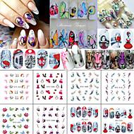 12 Adesivos para Manicure Artística Arte Deco/Retro Efeito 3D Artigos DIY Adesivo maquiagem Cosméticos Designs para Manicure