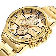 LONGBO Herrn Sportuhr Modeuhr Armbanduhr Einzigartige kreative Uhr Armbanduhren für den Alltag Uhr Holz Quartz Edelstahl BandCool Bequem