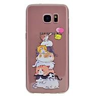 Hoesje voor Samsung Galaxy S8 plus s8 telefoon hoesje kat patroon emboss zacht tpu materiaal telefoon hoesje s7 rand s7 s6 rand s6