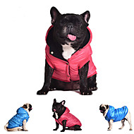 개 코트 후드 조끼 레드 블루 그레이 강아지 의류 겨울 모든계절/가을 솔리드 캐쥬얼/데일리 따뜻함 유지