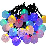 hkv® sollamper 6m 30led rgb vandtæt fe udendørs have jul fest dekoration string lys