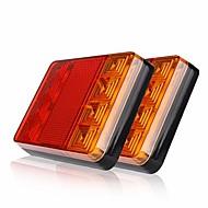 Ziqiao 2 stuks 8 leds auto vrachtwagen achter staart licht waarschuwingslampen achterlampen waterdichte taille achterdelen voor
