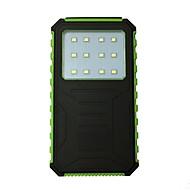 12000mah 12led 5v2a wasserdichte Macht Bank mit Solar-Ladung für Handy
