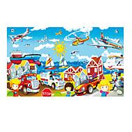 Puzzle Drewniane puzzle Cegiełki DIY Zabawki Samochód Helikopter
