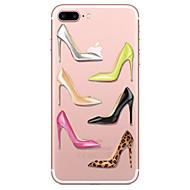 Para el iphone de la manzana 7 7 más los patrones de los altos talones de la cubierta del caso pintaron la alta caja suave material del