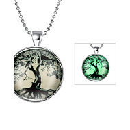 남성용 여성용 팬던트 목걸이 보석류 생명의 나무 은 도금 패션 보석류 제품 일상