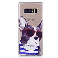 przypadku samsung galaxy note 8 obudowa telefonu tpu materiał pies wzór malowany telefon przypadku